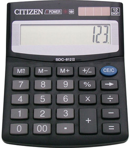 Калькулятор CITIZEN SDC-812 II 12разр ОРИГИНАЛ разм.12*13см
