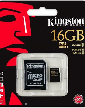 Карта памяти SDC10/16Gb 16Gb micro SDHC Class 10 Kingston